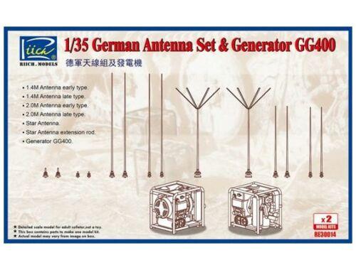 Riich German Antenna Set   GG400 Generator (Model kits x2) 1:35 (RE30014)