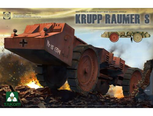 Takom Super Heavy Cleaning VehicleKrupp Raumer S 1:35 (2053)