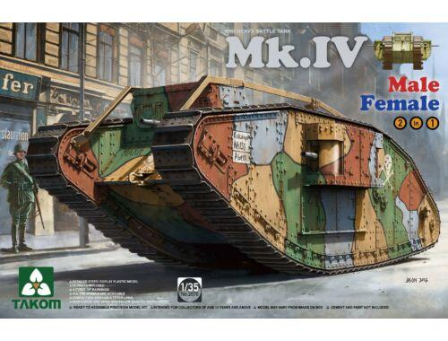 Takom WWI Mk.IV 2 in 1 Spec. Ed. w/new decal cement-free 1:35 (2076)