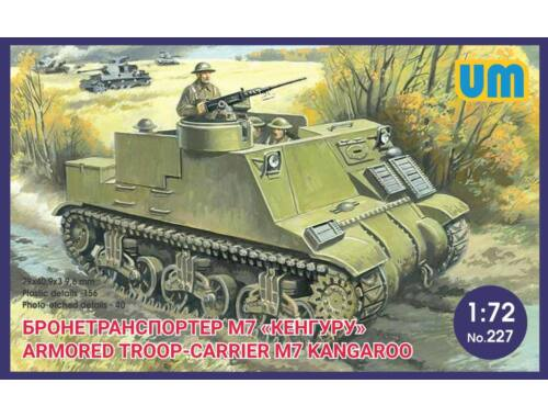 "Unimodel Armored troop-carrier M7 ""Kangaroo"" 1:72 (227)"