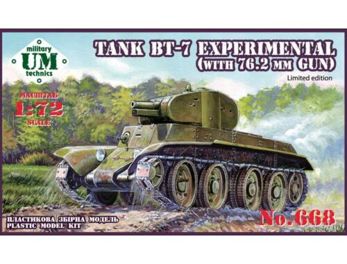 Unimodel BT-7 Experimental tank with 76.2mm gun 1:72 (T668)