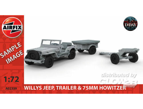 Airfix Willys Jeep, Trailer   6PDR Gun 1:72 (A02339)