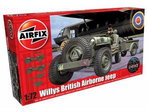 Airfix Willys Jeep, Trailer   6PDR Gun 1:72 (A02339)