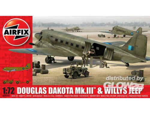 Airfix Douglas Dakota MkIII with Willys Jeep 1:72 (A09008)