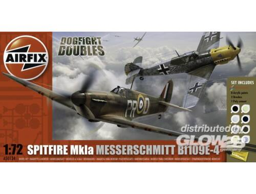 Airfix Dogfight Double Spitfire 1A / BF 109E Gift Set 1:72 (A50135)