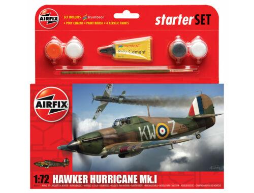 Airfix Hawker Hurricane Mk1 1:72 Starter Set (A55111)