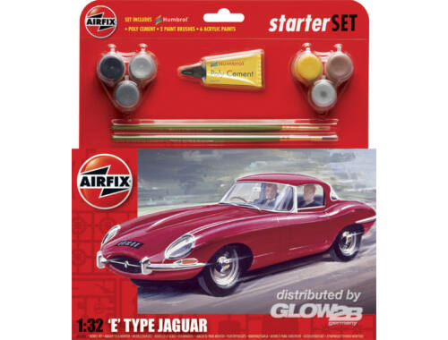 """Airfix Starter Set Med """"E"""" Type Jaguar (new) 1:32 (A55200)"""