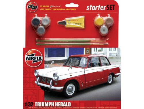 Airfix Starter Set Med Triumph Herald (new) 1:32 (A55201)