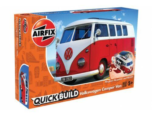 Airfix Quickbuild VW Camper van piros kisbusz J6017