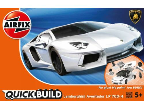 Airfix Quickbuild Lamborghini Aventador fehér autó J6019
