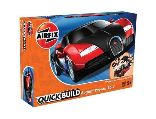 Airfix Quickbuild Bugatti Veyron piros/feket autó J6020