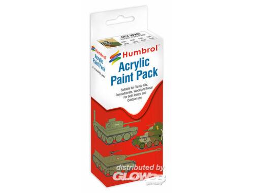 Humbrol Acryl Paint Set AFV WWII (8 pcs) (AA9054)