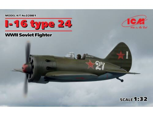 ICM I-16 type 24 WWII Soviet Fighter 1:32 (32001)