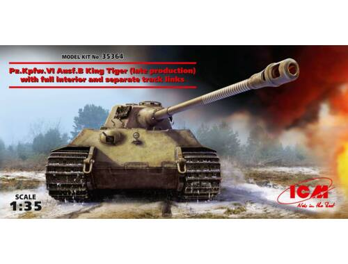 ICM Pz.Kpfw. VI Ex. King Tiger late with full interior 1:35 (35364)