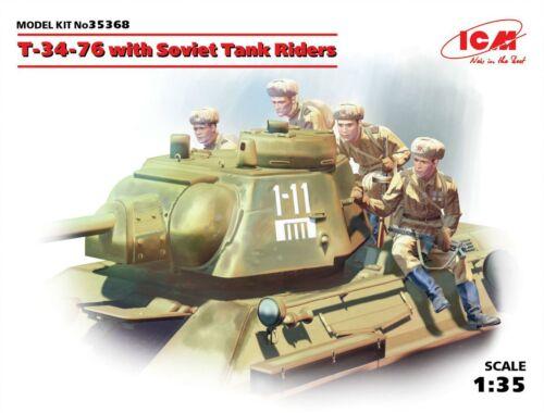 ICM T-34-76 with Soviet Tank Riders 1:35 (35368)