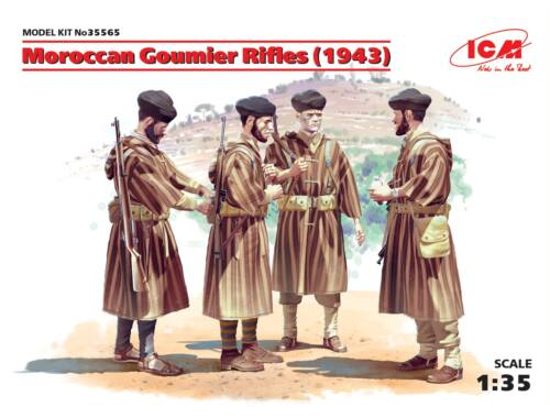 ICM Moroccan Goumier Rifles (1943) (4figures) 1:35 (35565)