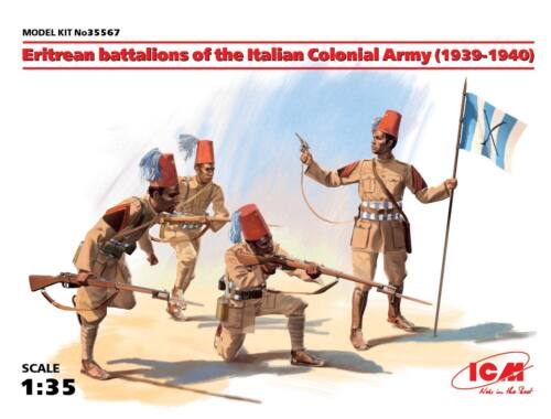 ICM Eritrean battalions of the Italian Army (1939-1940) 4 figures 1:35 (35567)