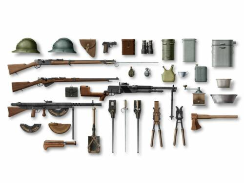 ICM WWI French Infantry W   E 1:35 (35681)