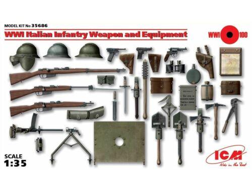 ICM WWI Italian Infantry W   E 1:35 (35686)