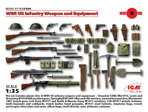 ICM WWI US Infantry W   E 1:35 (35688)