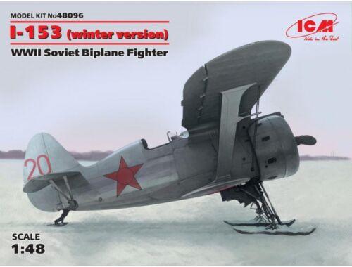 ICM I-153 winter version WWII Soviet Biplane Fighter 1:48 (48096)