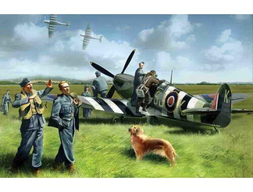 ICM Spitfire Mk IX with RAF Pilots / Ground Crew 1:48 (48801)