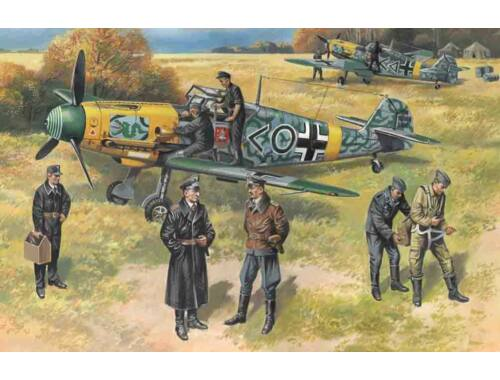 ICM Bf 109F-2 with German Pilots and Ground Personnel 1:48 (48803)