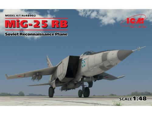 ICM MiG-25 RB Soviet Reconnaissance Plane 1:48 (48902)