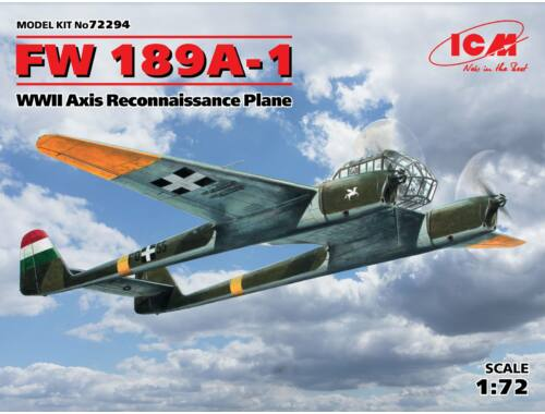 ICM FW 189A-1 WWII Axis Reconnaissane Plane 1:72 (72294)