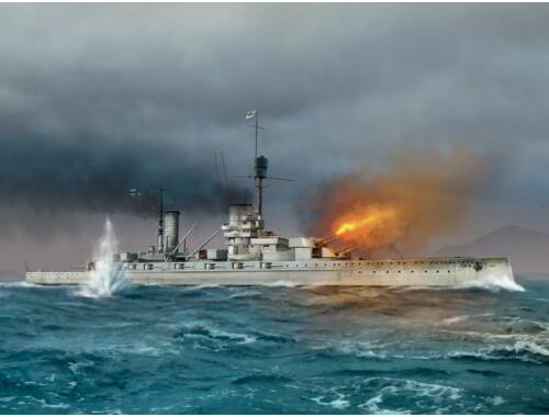 ICM König WWI German Battleship Full hull and waterline 1:700 (S014)