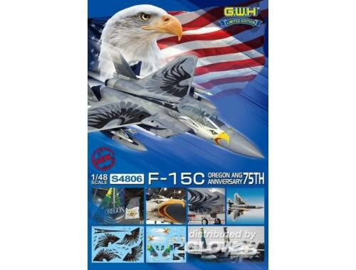 Lion Roar USAF F-15C OREGON ANG 75th Anniversary Limited Edition 1:48 (S4806)