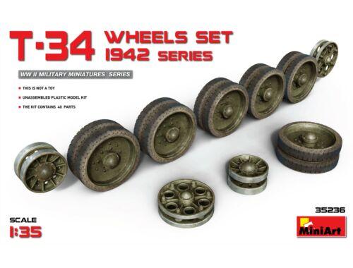 Miniart T-34 Wheels Set.1942 Series 1:35 (35236)