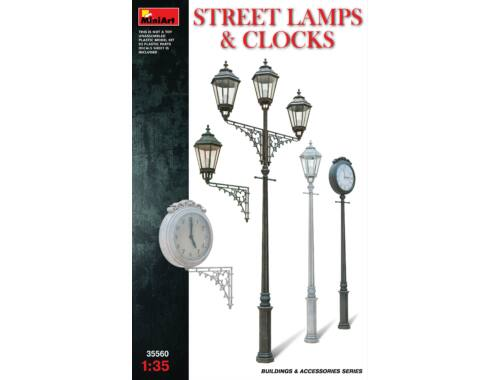 Miniart Street Lamps   Clocks 1:35 (35560)