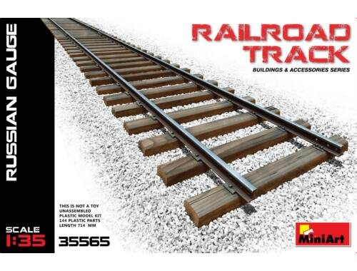 Miniart Railroad Track (Russian Gauge) 1:35 (35565)