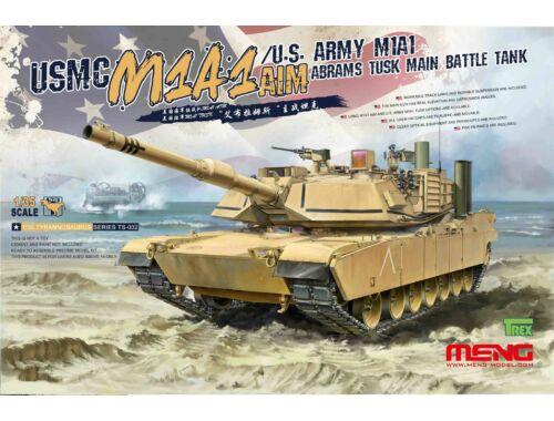 Meng USMC M1A1 AIM / U.S.Amy M1A1 Abrams TUSK 1:35 (TS-032)