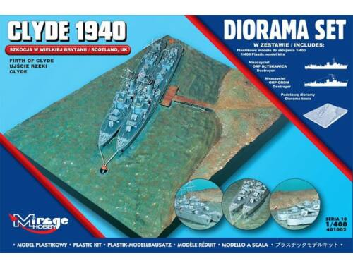 Mirage Hobby Clyde 1940 Diorama Set (Scotland, Firth of Clyde) 1:144 (401002)