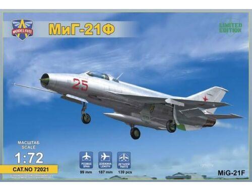 """Modelsvit MIG-21F (Izdeliye """"72"""") Soviet supersonic fighter 1:72 (72021)"""