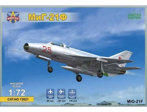 "Modelsvit MIG-21F (Izdeliye ""72"") Soviet supersonic fighter 1:72 (72021)"