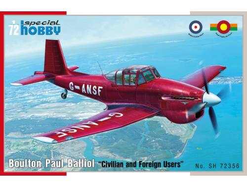 "Special Hobby Bolton Paul Balliol ""Civilian and Foreign Users 1:72 (72356)"