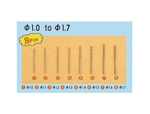 Trumpeter Master Tools Twist Drilling Auger Bit set2 (8 pcs, 1,0-1,7mm) (09955)