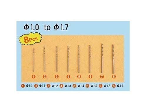 Trumpeter Master Tools Twist Drilling Auger Bit set2 (8 pcs, 1,0-1,7mm) (9955)