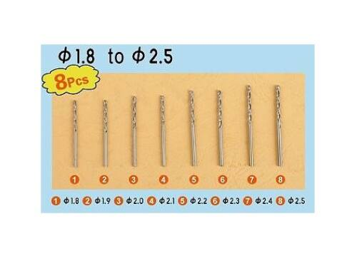 Master Tools Twist Drilling Auger Bit set3 (8 pcs, 1,8-2,5mm) (09956)