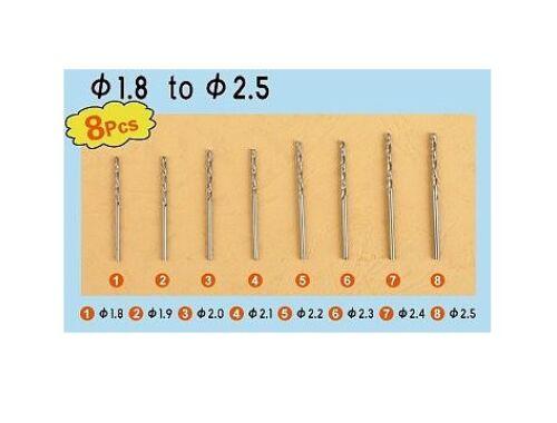 Trumpeter Master Tools Twist Drilling Auger Bit set3 (8 pcs, 1,8-2,5mm) (09956)