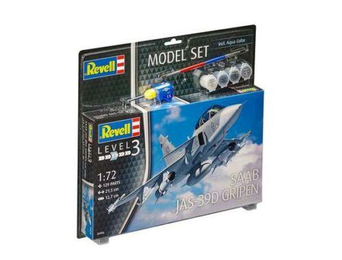 Revell Model Set Saab JAS-39D Gripen Tw 1:72 (63956)