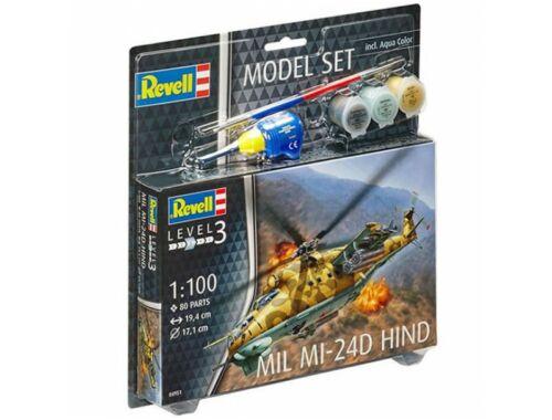 Revell Model Set Model Set Mil Mi-24D Hind 1:100 (64951)