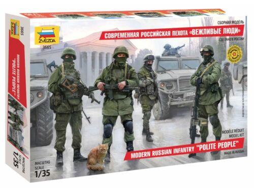 Zvezda Modern Russian Infantry Polite People  1:35 (3665)