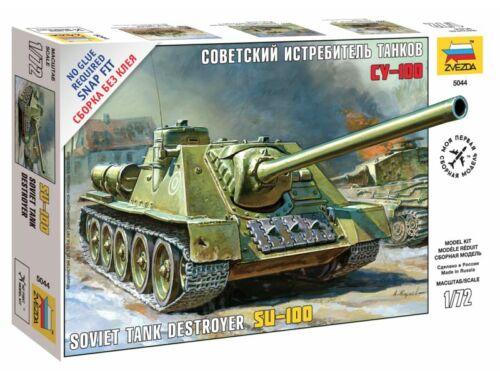 Zvezda Soviet Self-propelled Gun SU-100 1:72 (5044)