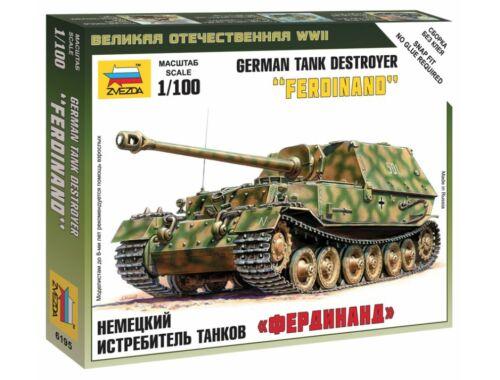 Zvezda Sd.Kfz.184 Ferdinand Heavy Tank Destroyer 1:100 (6195)