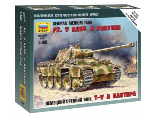 Zvezda Pz.Kpfw.V Panther Ausf.A Military small set 1:100 (6196)