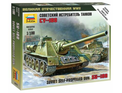 Zvezda SU-100 Soviet Self-Propelled Gun 1:100 (6211)